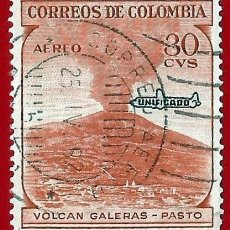 Sellos: COLOMBIA. 1959. VOLCAN GALERAS. PASTO. Lote 220737720