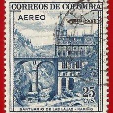Sellos: COLOMBIA. 1959. SANTUARIO DE LAS LAJAS. NARIÑO. Lote 220737858