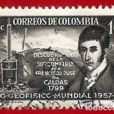 Sellos: COLOMBIA. 1958. AÑO GEOFISICO MUNDIAL. Lote 220739508