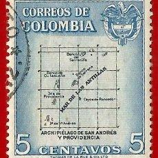 Sellos: COLOMBIA. 1956. ARCHIPIELAGO DE SAN ANDRES Y PROVIDENCIA. Lote 221435170