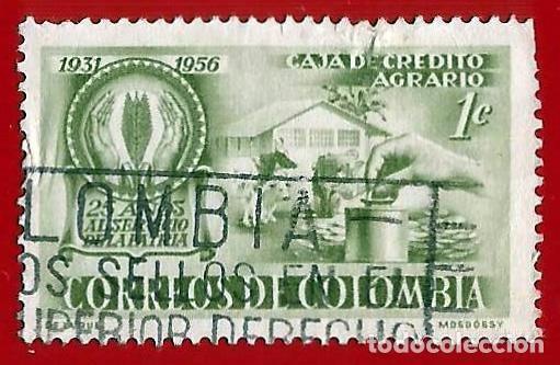 COLOMBIA. 1957. CAJA DE CREDITO AGRARIO. GRANJA (Sellos - Extranjero - América - Colombia)