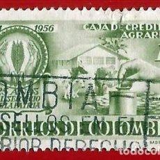 Sellos: COLOMBIA. 1957. CAJA DE CREDITO AGRARIO. GRANJA. Lote 221435291