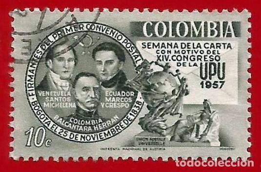COLOMBIA. 1957. UPU. SEMANA DE LA CARTA (Sellos - Extranjero - América - Colombia)