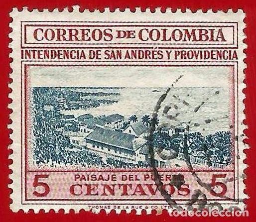 COLOMBIA. 1955. PUERTO DE SAN ANDRES (Sellos - Extranjero - América - Colombia)