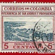 Sellos: COLOMBIA. 1955. PUERTO DE SAN ANDRES. Lote 221490901