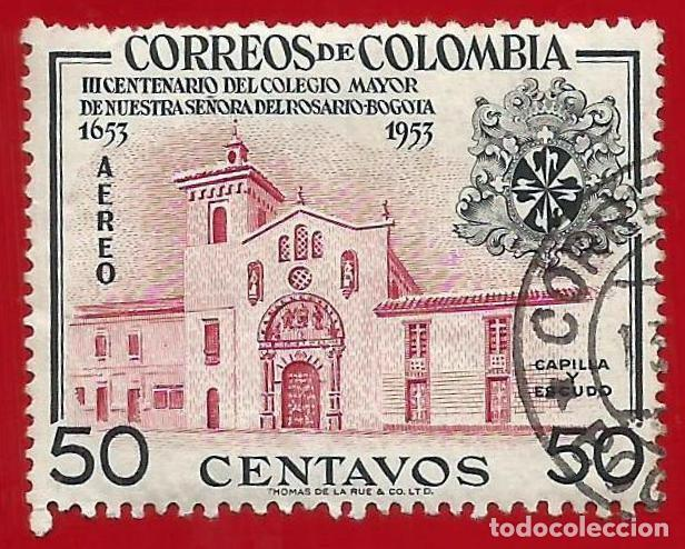 COLOMBIA. 1954. COLEGIO MAYOR NTRA. SRA. DEL ROSARIO. BOGOTA (Sellos - Extranjero - América - Colombia)