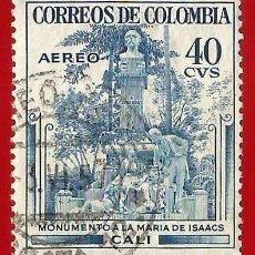 Sellos: COLOMBIA. 1954. MONUMENTO A LA MARIA DE ISAACS. Lote 221493831