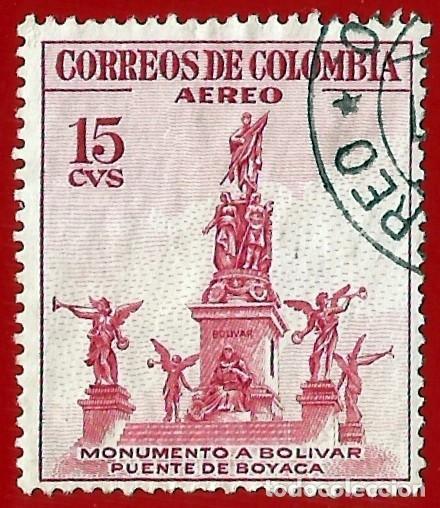 COLOMBIA. 1954. MONUMENTO A BOLIVAR. PUENTE DE BOYACA (Sellos - Extranjero - América - Colombia)