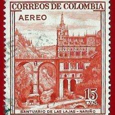 Sellos: COLOMBIA. 1954. SANTUARIO DE LAS LAJAS. NARIÑO. Lote 221494191