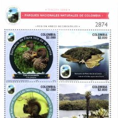 Sellos: O) 2020 COLOMBIA, AREAS PROTEGIDAS, RESERVAS NATURALES, REGIONES FISIOGRAFICAS, RECURSOS GENETICOS,. Lote 221520183
