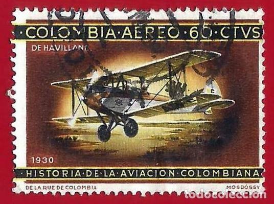 COLOMBIA. 1966. AVION. DE HAVILLAND BIPLANO. 1930 (Sellos - Extranjero - América - Colombia)