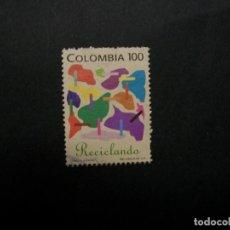 Francobolli: /24.10/-COLOMBIA-1992-100 P. Y&T 987 SERIE COMPLETA EN USADO/º/. Lote 222112587