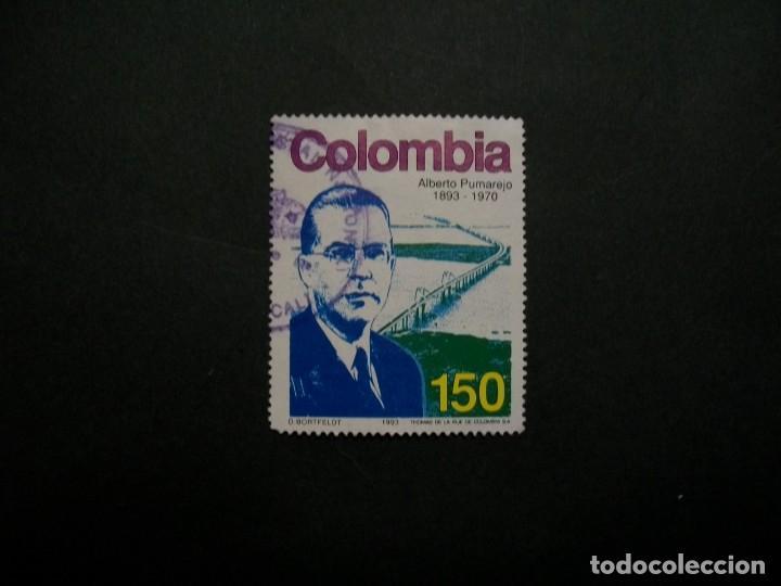 /24.10/-COLOMBIA-1993-150 P. Y&T 1006 EN USADO/º/ (Sellos - Extranjero - América - Colombia)