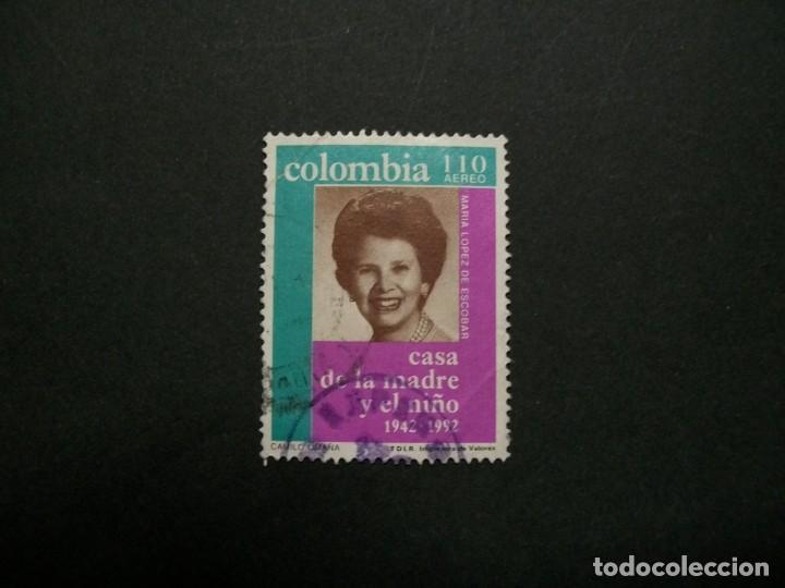 /24.10/-COLOMBIA-1992-CORREO AEREO 110 P. Y&T 853 SERIE COMPLETA EN USADO/º/ (Sellos - Extranjero - América - Colombia)