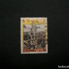 Selos: /24.10/-COLOMBIA-1988-CORREO AEREO 80 P. Y&T 778 EN USADO/º/. Lote 222121937