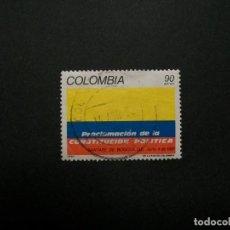 Sellos: /24.10/-COLOMBIA-1991-CORREO AEREO 90 P. Y&T 842 SERIE COMPLETA EN USADO/º/. Lote 222122391