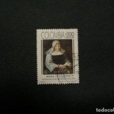 Sellos: /24.10/-COLOMBIA-1994-300 P. Y&T 1015 SERIE COMPLETA EN USADO/º/. Lote 222122883