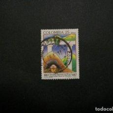 Selos: /24.10/-COLOMBIA-1987-CORREO AEREO 25 P. Y&T 765 SERIE COMPLETA EN USADO/º/. Lote 222123468