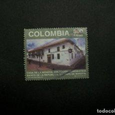 Selos: /24.10/-COLOMBIA-1997-CORREO AEREO 800 P. Y&T 953 SERIE COMPLETA EN USADO/º/. Lote 222125337