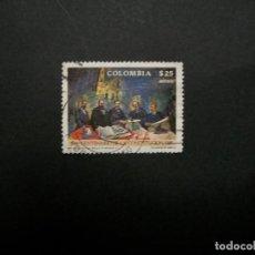 Francobolli: /24.10/-COLOMBIA-1986-CORREO AEREO 25 P. Y&T 758 SERIE COMPLETA EN USADO/º/. Lote 222125696