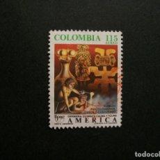 Selos: /24.10/-COLOMBIA-1989-CORREO AEREO 115 P. Y&T 800 SERIE COMPLETA EN USADO/º/-AMERICA UPAE. Lote 222148335
