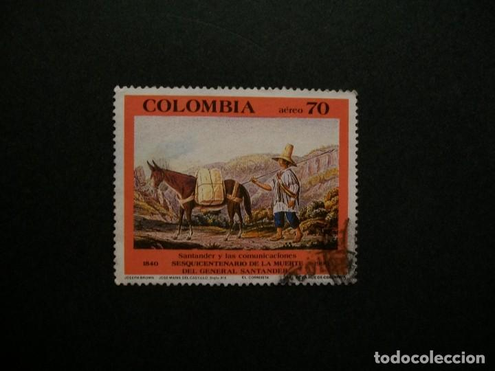 /24.10/-COLOMBIA-1990-CORREO AEREO 70 P. Y&T 818 EN USADO/º/ (Sellos - Extranjero - América - Colombia)