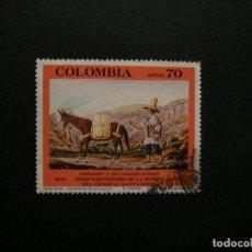 Francobolli: /24.10/-COLOMBIA-1990-CORREO AEREO 70 P. Y&T 818 EN USADO/º/. Lote 222148465