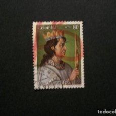 Sellos: /24.10/-COLOMBIA-1988-CORREO AEREO 80 P. Y&T 780 SERIE COMPLETA EN USADO/º/. Lote 222155381