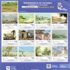 Sellos: O) COLOMBIA 2020, INDEPENDENCIA DE COLOMBIA REGIONES DE LA MAGDALENA PREDOMINANTE EN LA HISTORIA POR. Lote 222279033
