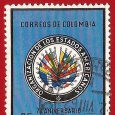 Sellos: COLOMBIA. 1962. ORGANIZACION DE LOS ESTADOS AMERICANOS. BANDERAS. Lote 227725985