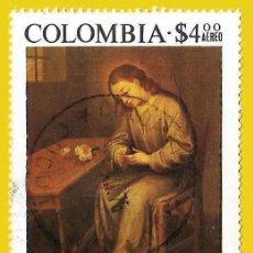 Francobolli: COLOMBIA. 1975. GREGORIO VAZQUEZ. EL NIÑO DE LA ESPINA. Lote 227945125
