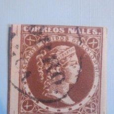 Sellos: ESTADOS UNIDOS COLOMBIA - DIEZ CENTAVOS - SIN DENTAR - CORREOS NALES. NACIONALES 1877. Lote 228683150