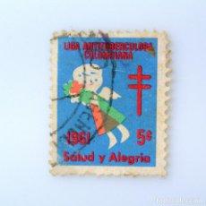 Sellos: ANTIGUO SELLO POSTAL COLOMBIA 1961, 5 CT, LIGA ANTITUBERCULOSA COLOMBIANA, USADO. Lote 229698195