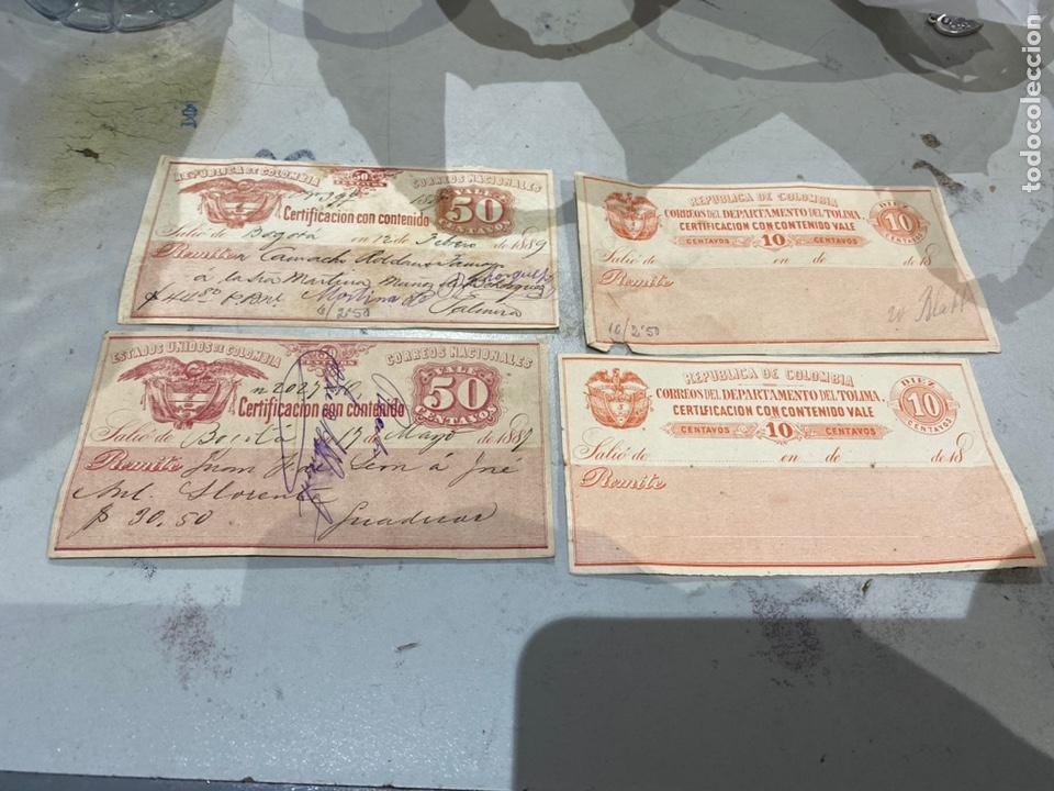 COLOMBIA. SELLOS PARA EL CORREO CERTIFICADO AÑOS 1889 .RAROS . VER FOTOS (Sellos - Extranjero - América - Colombia)