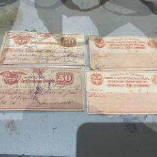 Sellos: COLOMBIA. SELLOS PARA EL CORREO CERTIFICADO AÑOS 1889 .RAROS . VER FOTOS. Lote 233882340