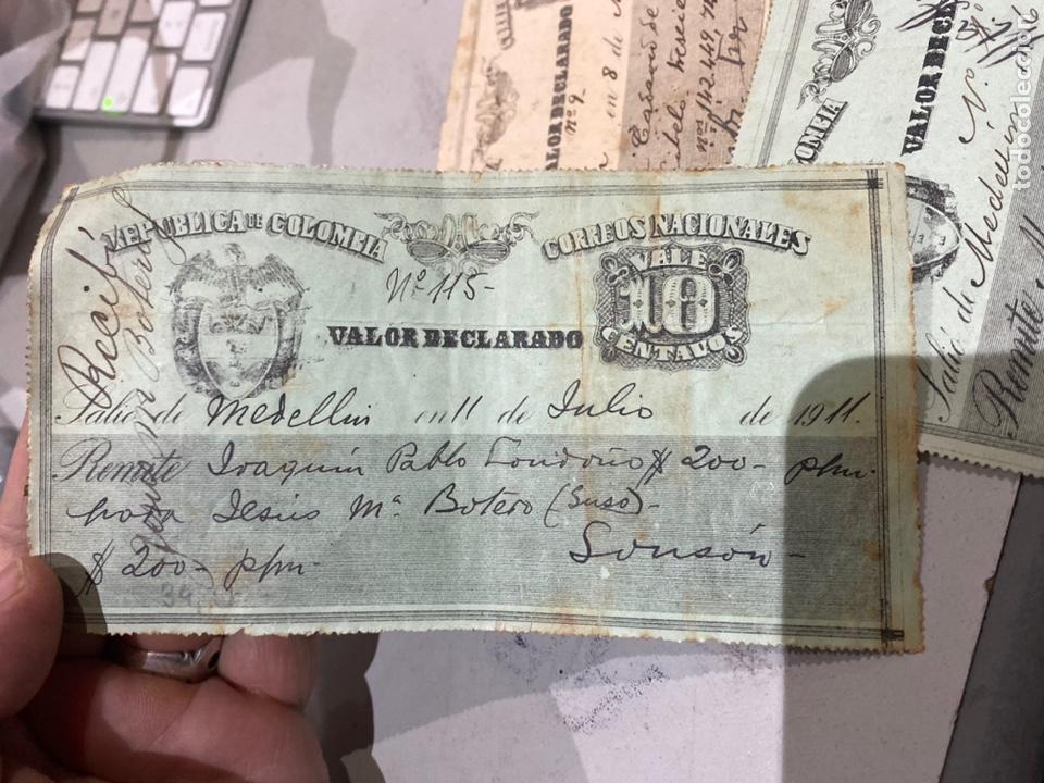 Sellos: COLOMBIA VALOR DECLARADO años 1905 .09 . Ver fotos 11 - Foto 2 - 233883705