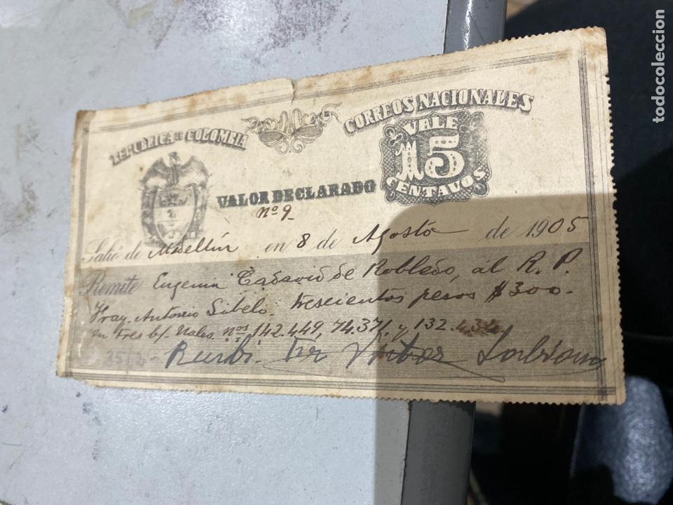 Sellos: COLOMBIA VALOR DECLARADO años 1905 .09 . Ver fotos 11 - Foto 4 - 233883705