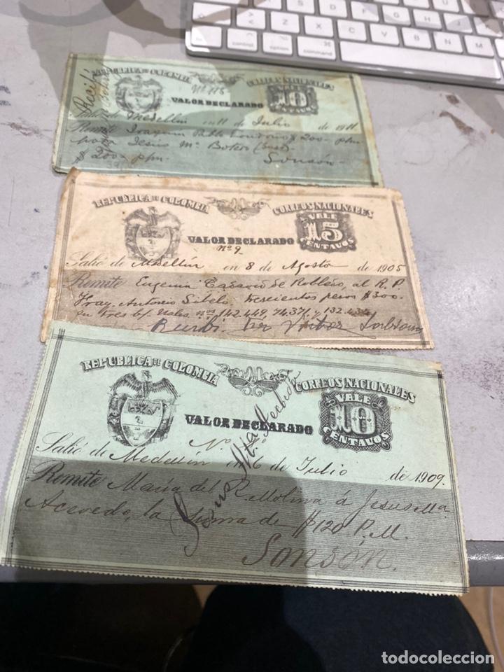 COLOMBIA VALOR DECLARADO AÑOS 1905 .09 . VER FOTOS 11 (Sellos - Extranjero - América - Colombia)