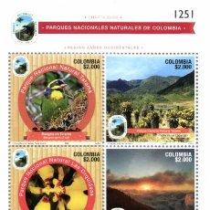 Sellos: O) 2020 COLOMBIA, PARQUES NATURALES, RESERVAS, PARAMOS VIRGENES. VEGETACIÓN, AFFLUENTES, SANTUARIO D. Lote 234716995