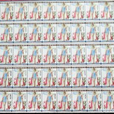 Sellos: COLOMBIA .1,20 PESOS LUZ MARINA ZULUAGA, MISS UNIVERSO, 1959. AÉREO. 50 SELLOS.. Lote 238399955