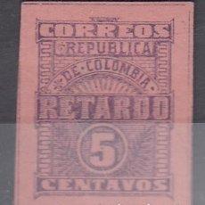 Sellos: COLOMBIA. RETARDO 5 CENTAVOS. NUEVO CON FIJASELLOS.. Lote 241899070