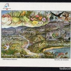 Sellos: COLOMBIA AEREO 789/95** - AÑO 1989 - PAISAJES - FAUNA Y FLORA - PHILEXFRANCE 89. Lote 243411995