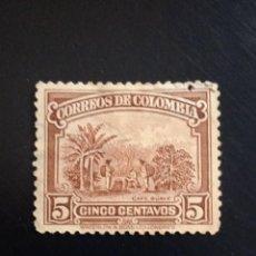 Sellos: COLOMBIA 5 CENTAVOS CAFE SUAVE, AÑO 1919.. Lote 245454810