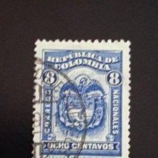 Sellos: COLOMBIA 8 CENTAVOS, ESCUDO, AÑO 1930.. Lote 245456005