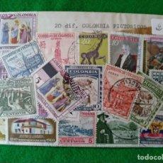Sellos: LOTE DE 20 SELLOS DE COLOMBIA. PAQUETE CERRADO EN 1970. Lote 245789045