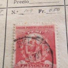 Sellos: CORREOS DE PERU. Lote 252678280