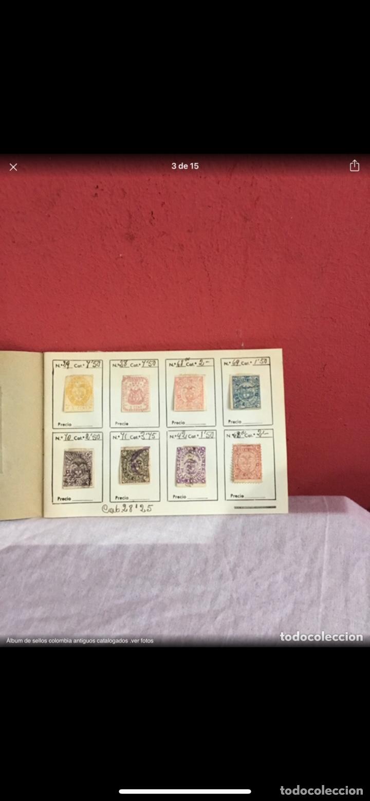 Sellos: Precioso álbum de 100 sellos clasificados colombia antigua completo . Alta coleccion. Ver fotos - Foto 3 - 253838140