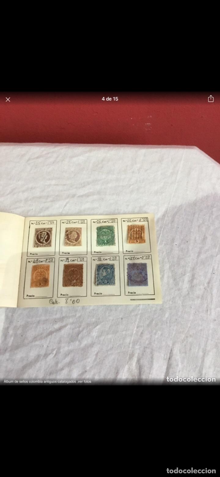 Sellos: Precioso álbum de 100 sellos clasificados colombia antigua completo . Alta coleccion. Ver fotos - Foto 4 - 253838140