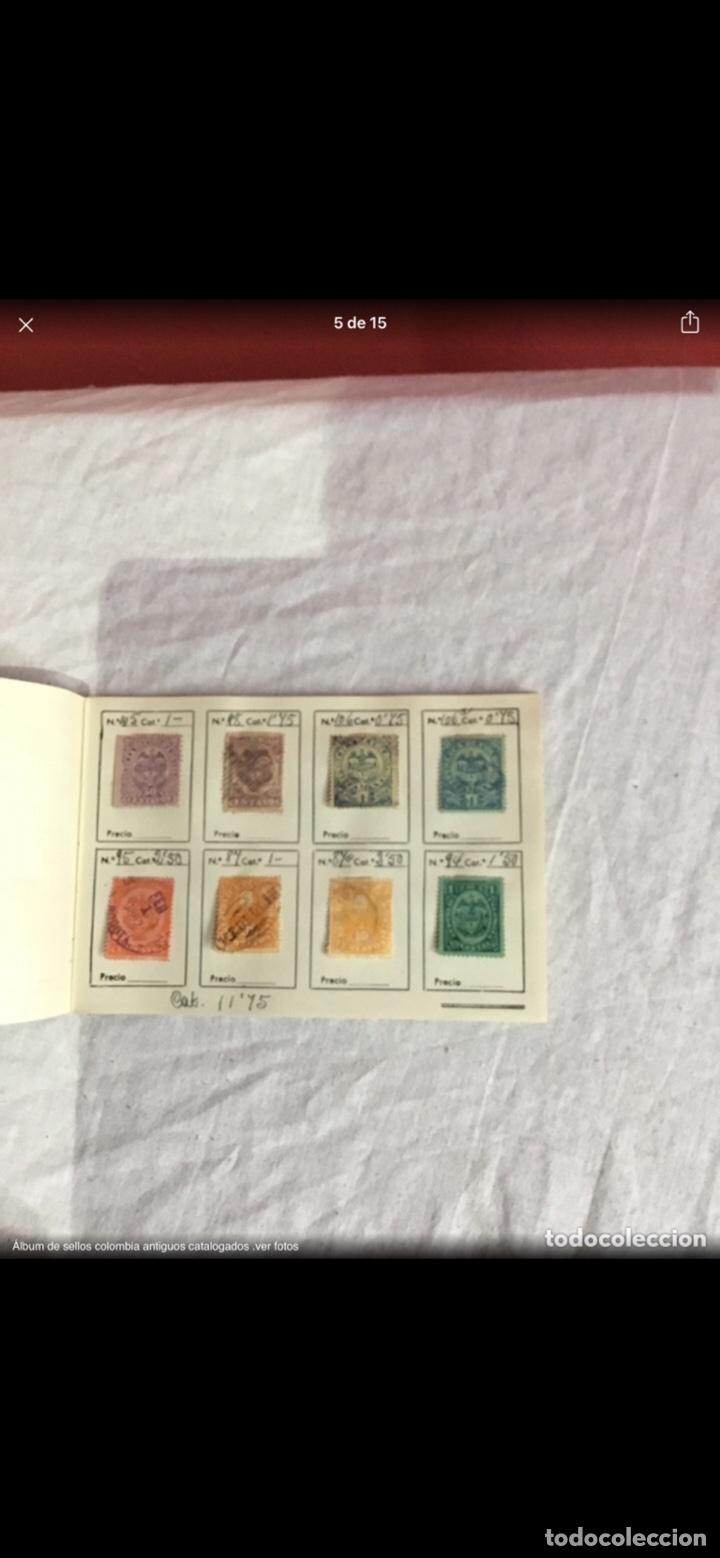 Sellos: Precioso álbum de 100 sellos clasificados colombia antigua completo . Alta coleccion. Ver fotos - Foto 5 - 253838140