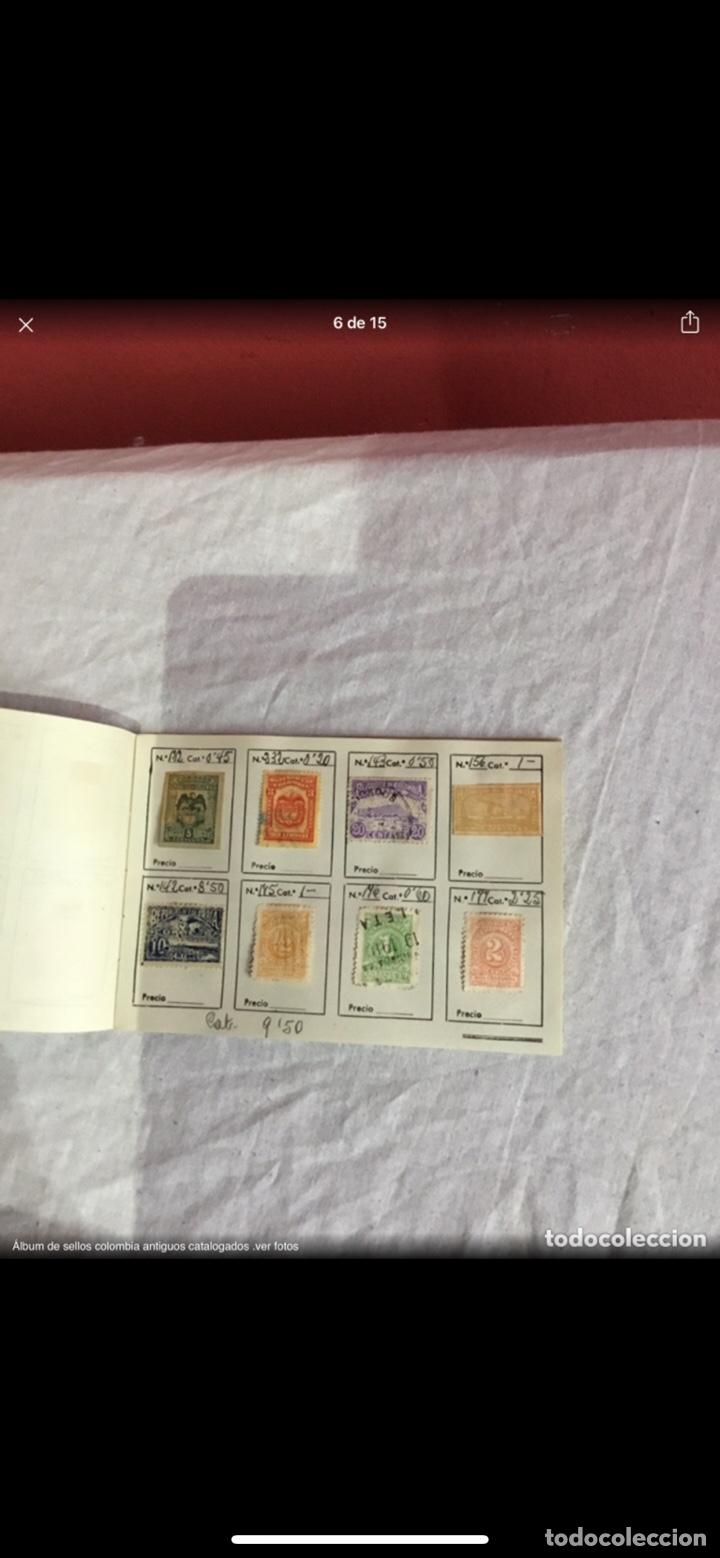 Sellos: Precioso álbum de 100 sellos clasificados colombia antigua completo . Alta coleccion. Ver fotos - Foto 6 - 253838140